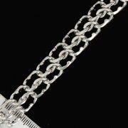 """Кубачинский серебряный браслет """"Кобра"""" 21 см (ширина - 1,2 см) арт.7195"""