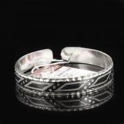 Серебряный кубачинский браслет с чернением арт.7643