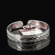 Серебряный кубачинский браслет с гравировкой арт.7647