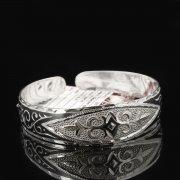 Серебряный кубачинский браслет с чернением арт.7658