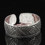 Серебряный кубачинский браслет с гравировкой арт.7663