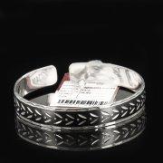 Серебряный кубачинский браслет с чернением арт.7665