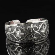 Серебряный кубачинский браслет с гравировкой арт.7669