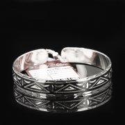 Серебряный кубачинский браслет с чернением арт.7670