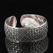 Серебряный кубачинский браслет с гравировкой арт.7674