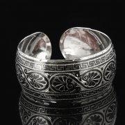 Серебряный кубачинский браслет с чернением арт.7680