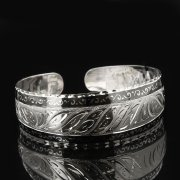 Серебряный кубачинский браслет с чернением арт.7802
