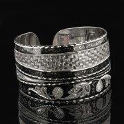 Серебряный кубачинский браслет с чернением арт.7803