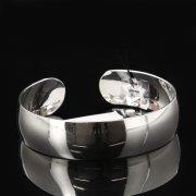 Серебряный кубачинский браслет с гравировкой арт.7805