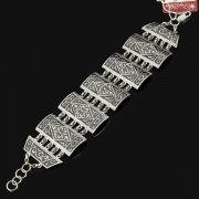 Серебряный кубачинский браслет с чернением арт.7948