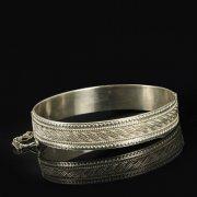 Кубачинский серебряный браслет с филигранью арт.9495