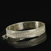 Кубачинский серебряный браслет с филигранью арт.9496