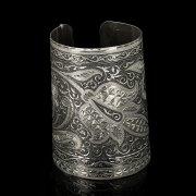 Серебряный кубачинский браслет с чернением арт.9524