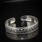 Серебряный кубачинский браслет с чернением арт.5331