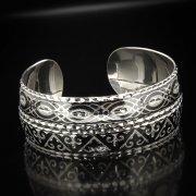 Серебряный кубачинский браслет с алмазной гранью арт.5333