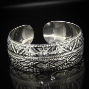 Серебряный кубачинский браслет с алмазной гранью арт.5335