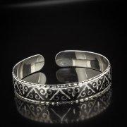 Серебряный кубачинский браслет с алмазной гранью арт.5337