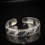 Серебряный кубачинский браслет с алмазной гранью арт.5338