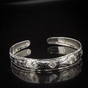 Серебряный кубачинский браслет с алмазной гранью арт.5339