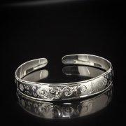 Серебряный кубачинский браслет с алмазной гранью арт.5340