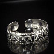 Серебряный кубачинский браслет с алмазной гранью арт.5341