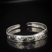 Серебряный кубачинский браслет с алмазной гранью арт.5342