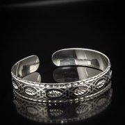 Серебряный кубачинский браслет с алмазной гранью арт.5343