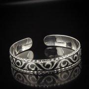 Серебряный кубачинский браслет с алмазной гранью арт.5344