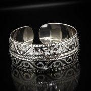 Серебряный кубачинский браслет с алмазной гранью арт.5345
