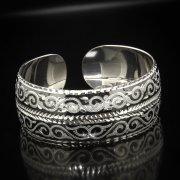 Серебряный кубачинский браслет с алмазной гранью арт.5346