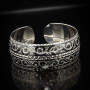 Серебряный кубачинский браслет с алмазной гранью арт.5347