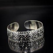 Серебряный кубачинский браслет с алмазной гранью арт.5348
