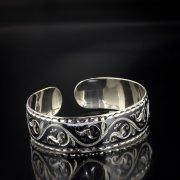 Серебряный кубачинский браслет с алмазной гранью арт.5350