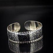 Серебряный кубачинский браслет с алмазной гранью арт.5351