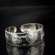Серебряный кубачинский браслет с алмазной гранью арт.5352