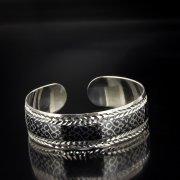 Серебряный кубачинский браслет с алмазной гранью арт.5353