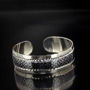 Серебряный кубачинский браслет с алмазной гранью арт.5354