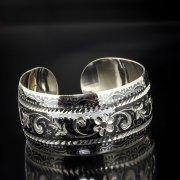 Серебряный кубачинский браслет с алмазной гранью арт.5355