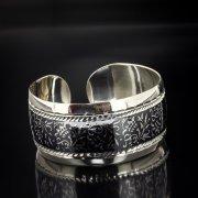Серебряный кубачинский браслет с алмазной гранью арт.5356