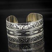Серебряный кубачинский браслет с алмазной гранью арт.5359