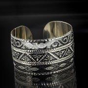 Серебряный кубачинский браслет с алмазной гранью арт.5360