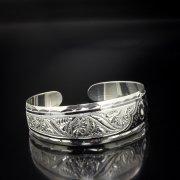 Серебряный кубачинский браслет с алмазной гранью арт.5365