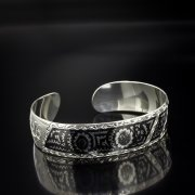 Серебряный кубачинский браслет с алмазной гранью арт.5366