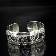 Серебряный кубачинский браслет с алмазной гранью арт.5367