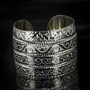 Серебряный кубачинский браслет с алмазной гранью арт.5368