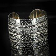 Серебряный кубачинский браслет с алмазной гранью арт.5369