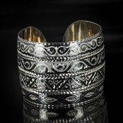 Серебряный кубачинский браслет с алмазной гранью арт.5370