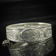 Кубачинский серебряный браслет с филигранью арт.5607