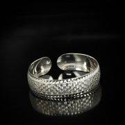 Серебряный кубачинский браслет белый арт.5772