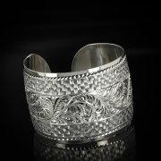 Серебряный кубачинский браслет с гравировкой арт.5782
